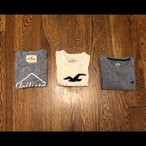 Hollister - three pack of crew neck T-shirt